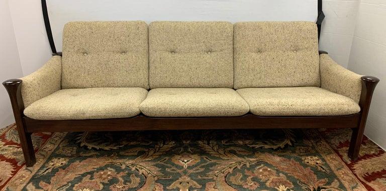 Late 20th Century Arne Vodder for Cado Furniture Denmark Signed Three-Seat Danish Modern Sofa For Sale