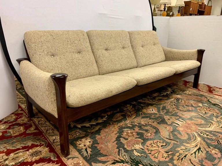 Fabric Arne Vodder for Cado Furniture Denmark Signed Three-Seat Danish Modern Sofa For Sale