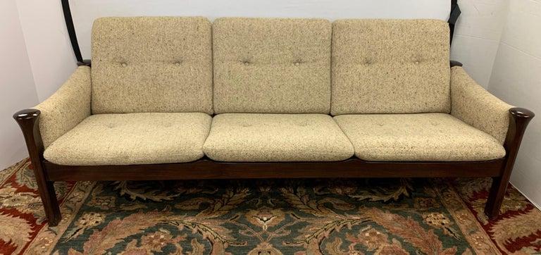 Arne Vodder for Cado Furniture Denmark Signed Three-Seat Danish Modern Sofa For Sale 2