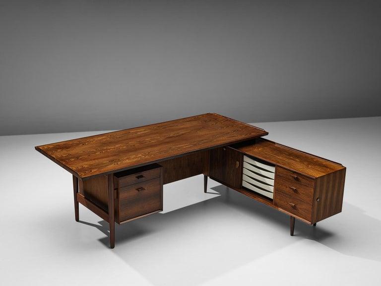 Arne Vodder for Sibast Corner Desk in Rosewood For Sale 2