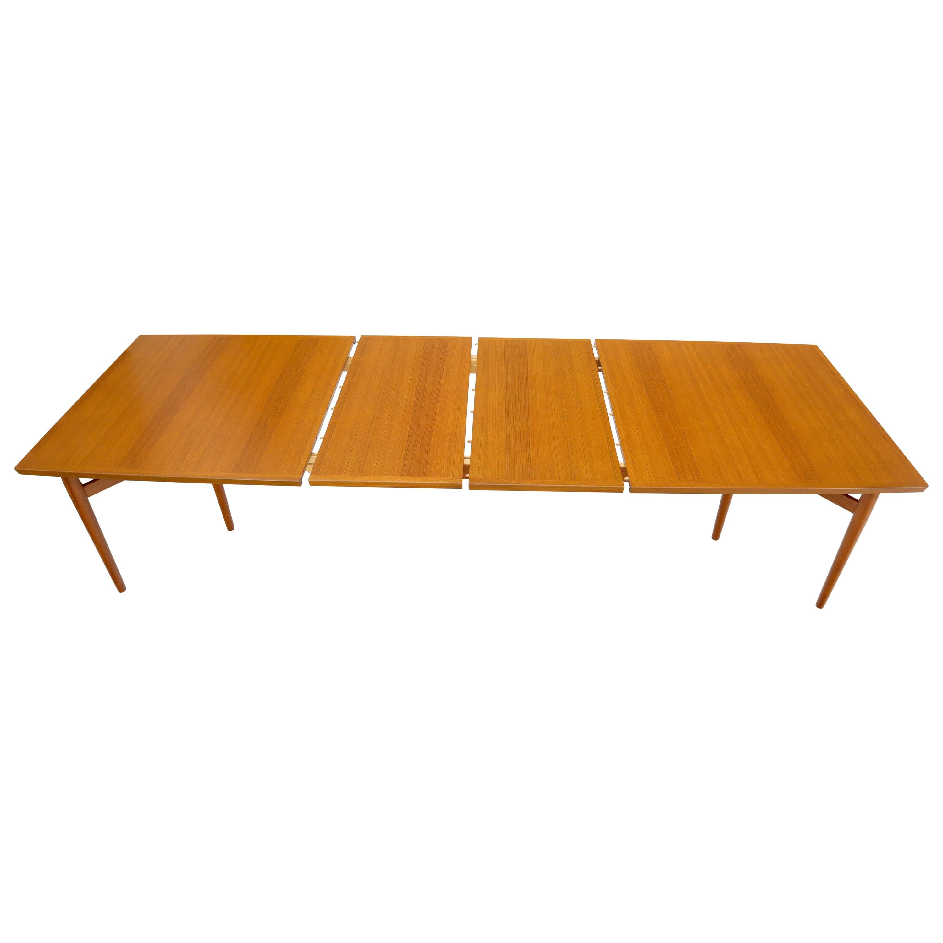Arne Vodder for Sibast Large Oversize Dining Conference Table Extensions
