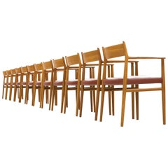 Arne Vodder for Sibast Møbler Set of 12 Dining Chairs '418'