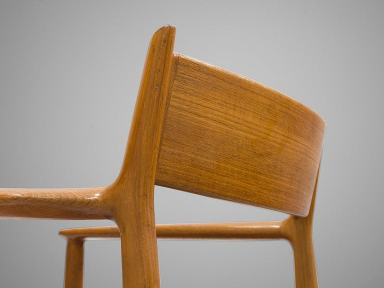 Arne Vodder for Sibast Møbler Set of Six Dining Chairs '418' In Good Condition For Sale In Waalwijk, NL