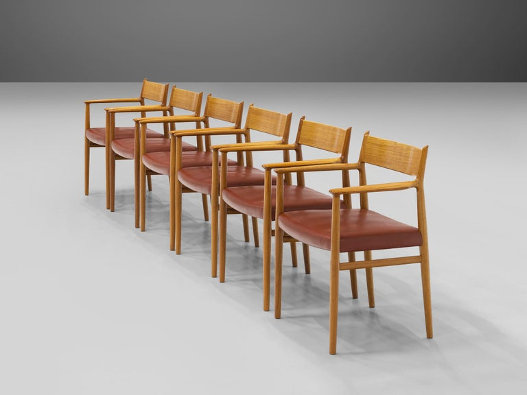 Mid-20th Century Arne Vodder for Sibast Møbler Set of Six Dining Chairs '418' For Sale