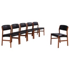 Arne Vodder for Sibast Mid-Century Dining Chairs, Set of 6