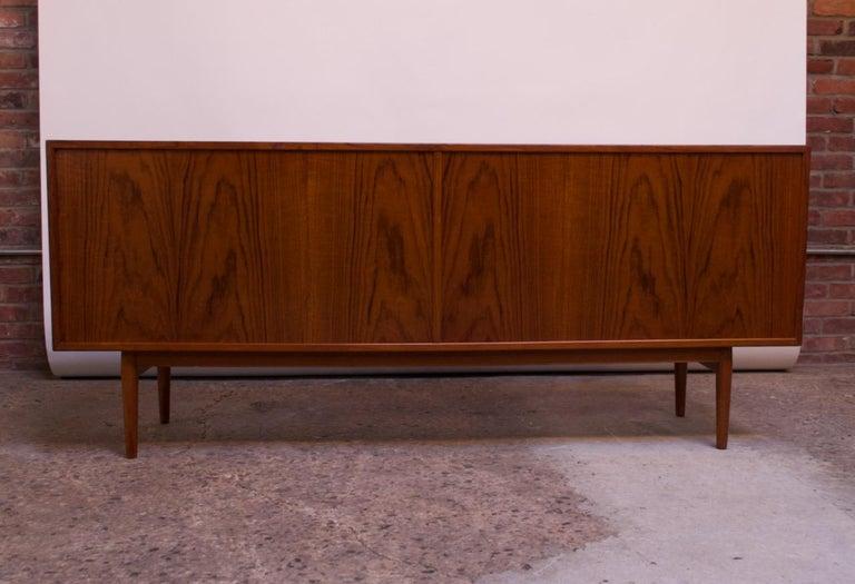 Arne Vodder for Sibast Tambour-Door Teak Credenza Model 37 For Sale 5