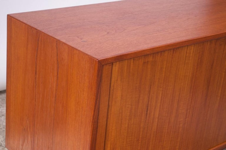 Arne Vodder for Sibast Tambour-Door Teak Credenza Model 37 For Sale 8