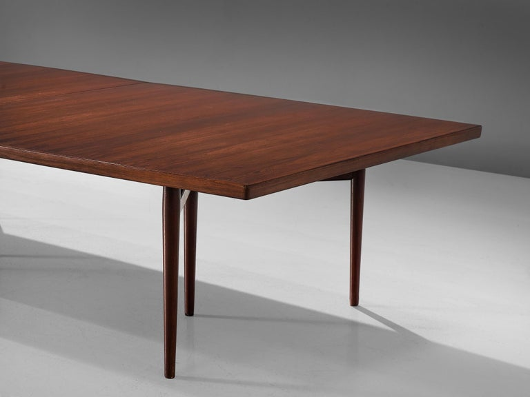 Rosewood Arne Vodder Grand Dining Table in Exotic Hardwood For Sale