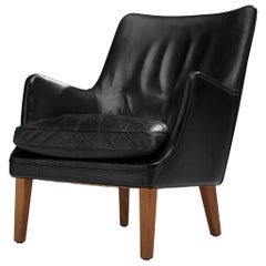 Arne Vodder Lounge Chair in Original Patinated Leather