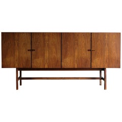 Arne Vodder Midcentury Scandinavian Dark Wood Height Sideboard, 1960s