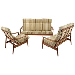 Arne Vodder Midcentury Seating Set, France & Son, Denmark, 1960s