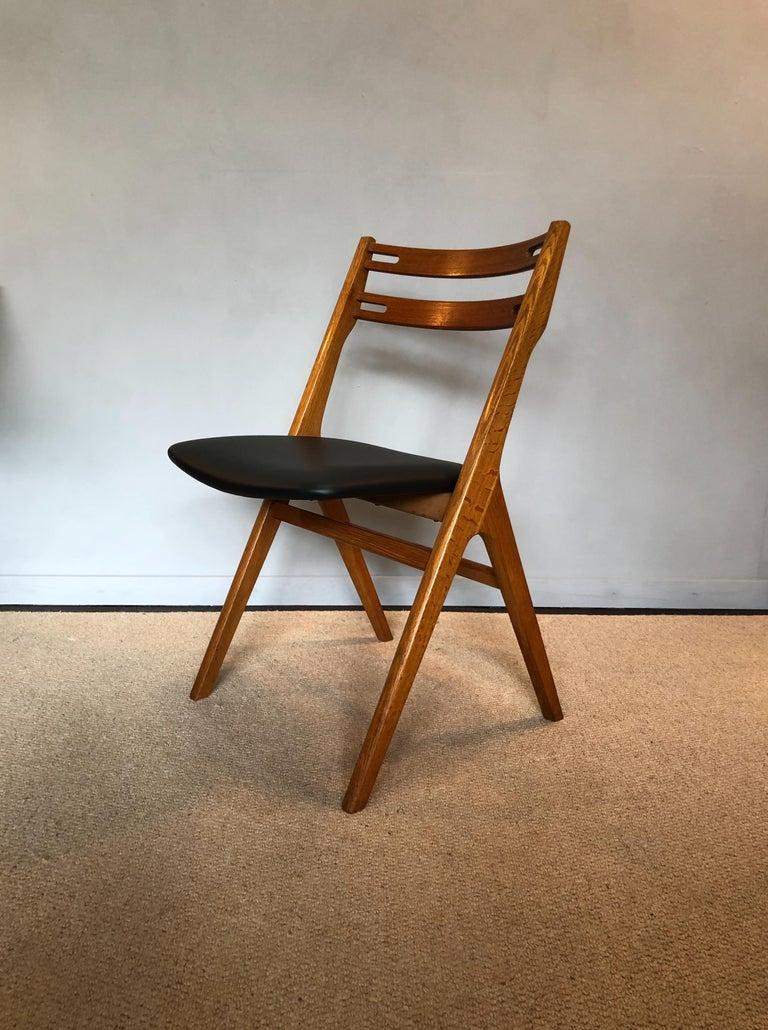 Mid-Century Modern Arne Vodder Oak Dining Chairs, Sibast, Set of 6 For Sale