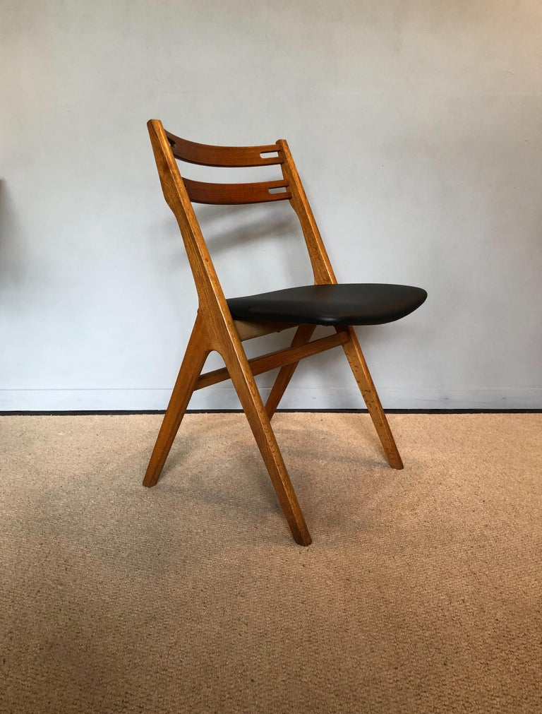 Arne Vodder Oak Dining Chairs, Sibast, Set of 6 In Good Condition For Sale In London, GB