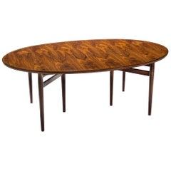 Arne Vodder Oval Dining Table for Sibast Furniture, Denmark, 1960s