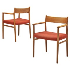 Arne Vodder Pair of Dining Chairs Model '418' in Walnut