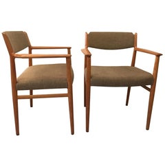 Arne Vodder Pair of Teak Armchair Model 418