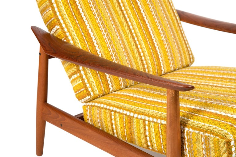Danish Arne Vodder Reclining Lounge Chair and Ottoman