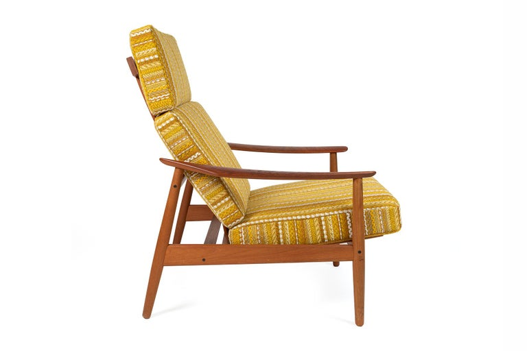 Mid-20th Century Arne Vodder Reclining Lounge Chair and Ottoman