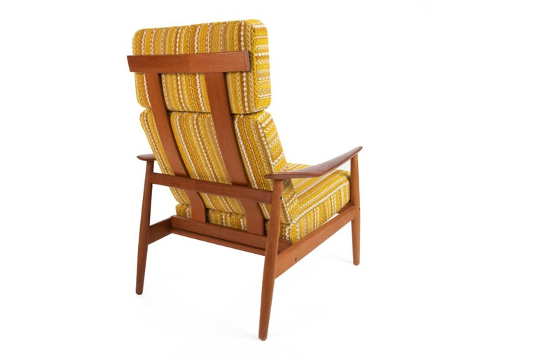 Teak Arne Vodder Reclining Lounge Chair and Ottoman