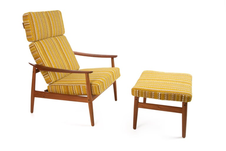 Arne Vodder Reclining Lounge Chair and Ottoman 1