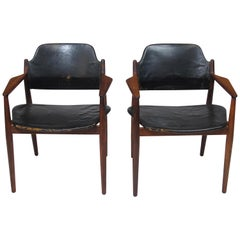Arne Vodder Rosewood Armchairs