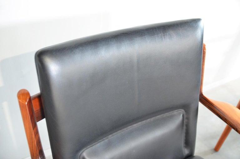 Arne Vodder Rosewood Armchairs Model 431 For Sale 3