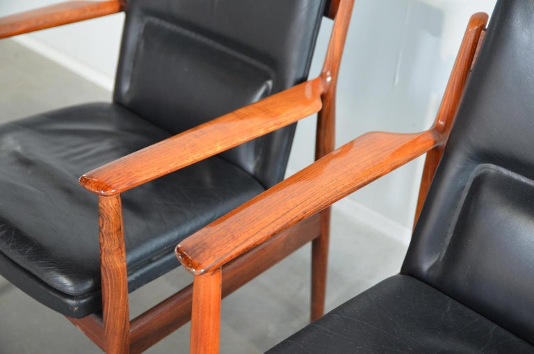 Mid-20th Century Arne Vodder Rosewood Armchairs Model 431 For Sale