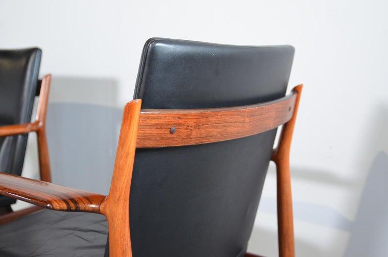 Arne Vodder Rosewood Armchairs Model 431 For Sale 2