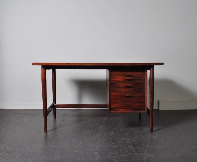 Mid-Century Modern Arne Vodder Rosewood Desk, Sibast