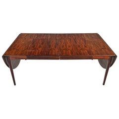 Arne Vodder Rosewood Drop Leaf Dining Table