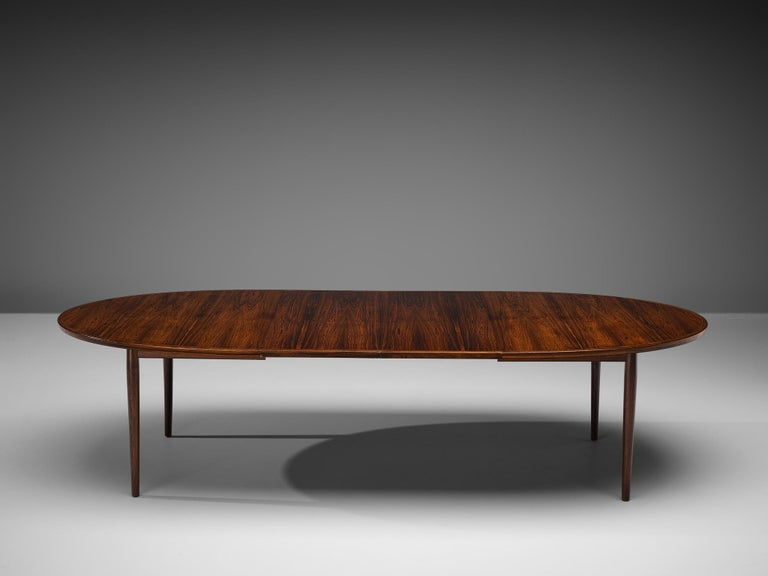 Danish Arne Vodder Rosewood Extendable Dining Table in Rosewood For Sale
