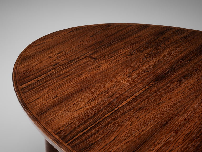 Mid-20th Century Arne Vodder Rosewood Extendable Dining Table in Rosewood For Sale