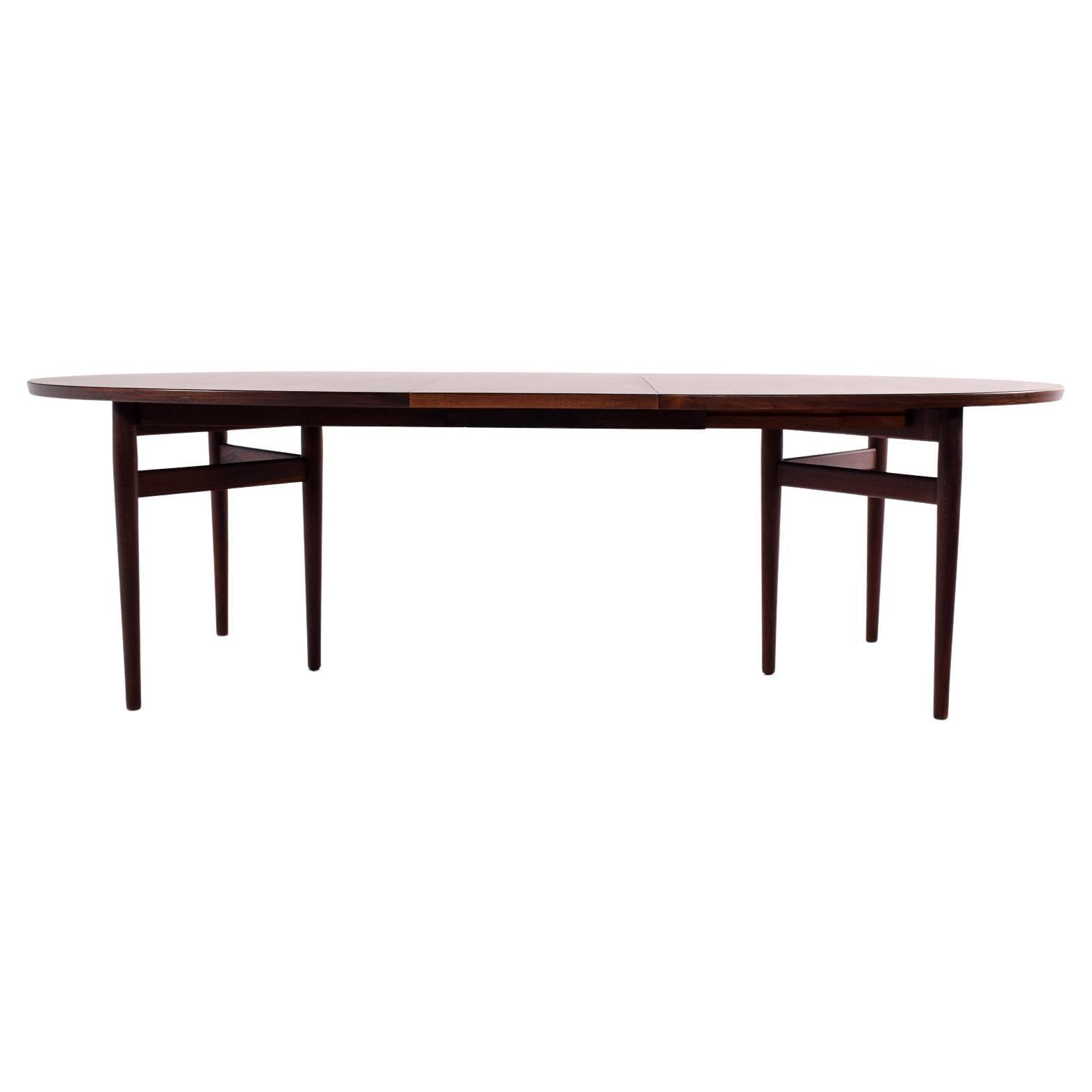 Arne Vodder Rosewood Oval Dining Table, Model 212 for Sibast