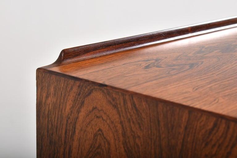 Arne Vodder Rosewood Tambour Doors Sideboard OS 63 for Sibast, Denmark, 1960 For Sale 4
