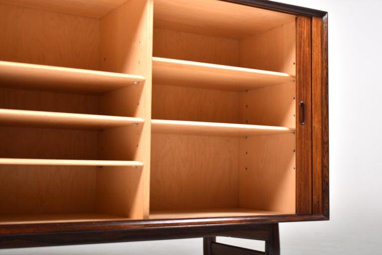 Arne Vodder Rosewood Tambour Doors Sideboard OS 63 for Sibast, Denmark, 1960 For Sale 6