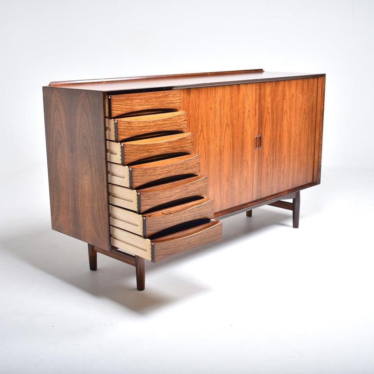 Danish Arne Vodder Rosewood Tambour Doors Sideboard OS 63 for Sibast, Denmark, 1960 For Sale