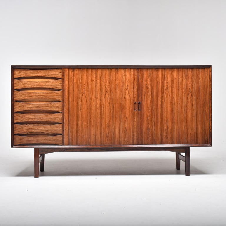 Arne Vodder Rosewood Tambour Doors Sideboard OS 63 for Sibast, Denmark, 1960 In Good Condition For Sale In Le Grand-Saconnex, CH
