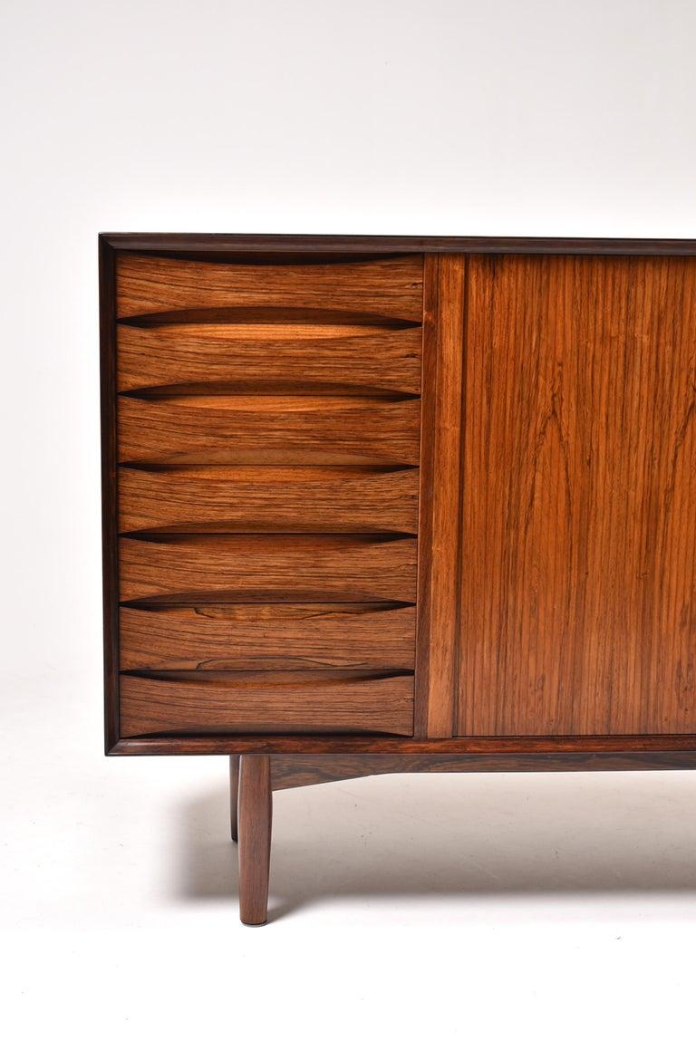Arne Vodder Rosewood Tambour Doors Sideboard OS 63 for Sibast, Denmark, 1960 For Sale 1
