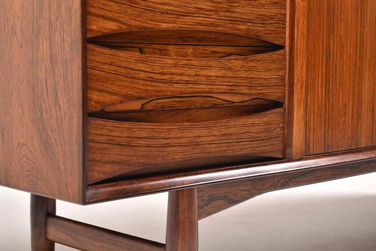 Arne Vodder Rosewood Tambour Doors Sideboard OS 63 for Sibast, Denmark, 1960 For Sale 3