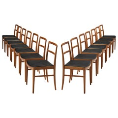 Arne Vodder Set of 14 Dining Chairs Model 430 in Teak