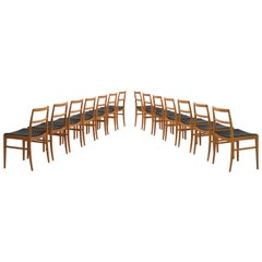 Arne Vodder Set of  Fourteen Teak Dining Chairs for Sibast