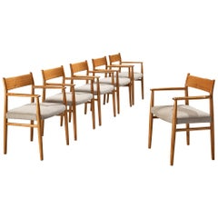 Arne Vodder Set of Six Dining Chairs Model '418' in Walnut