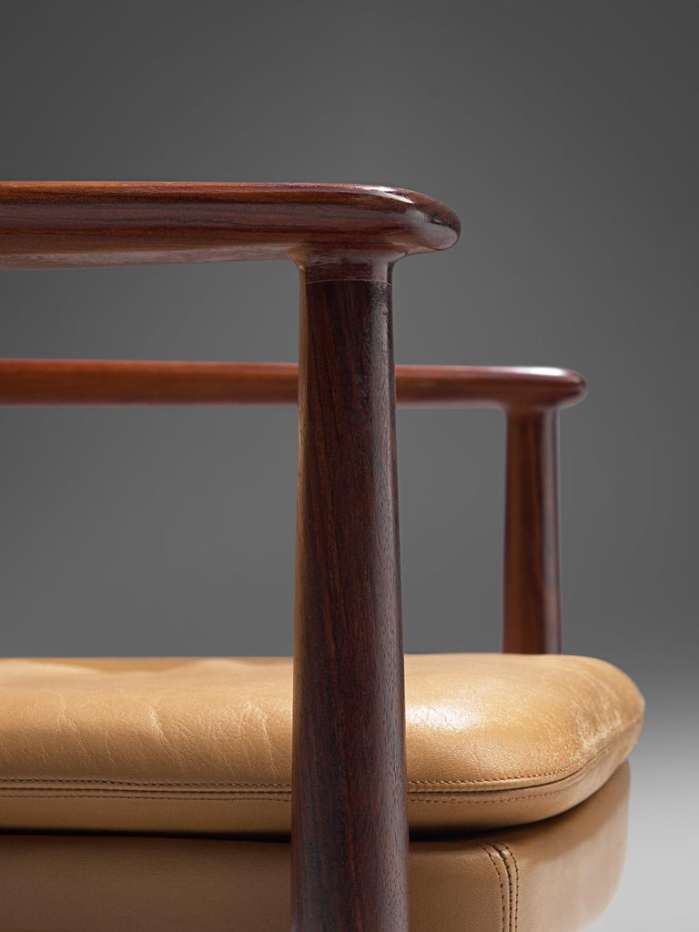Arne Vodder Set of Sixteen Dining Chairs with Original Leather For Sale 2
