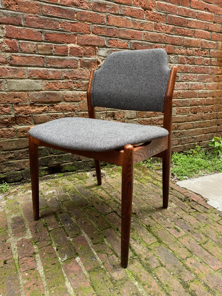 Scandinavian Modern Arne Vodder Sibast Møbler Model 62 Oak Side Chair For Sale