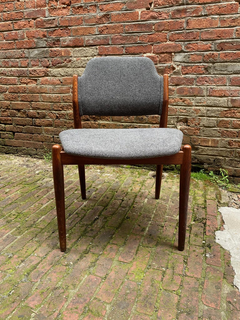 Danish Arne Vodder Sibast Møbler Model 62 Oak Side Chair For Sale