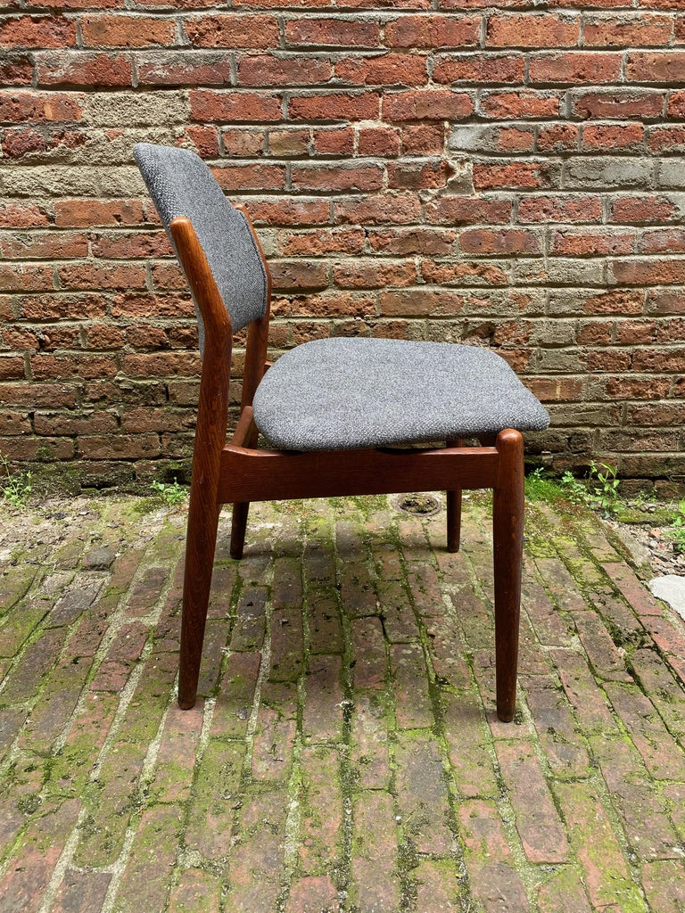 Arne Vodder Sibast Møbler Model 62 Oak Side Chair In Good Condition For Sale In Garnerville, NY