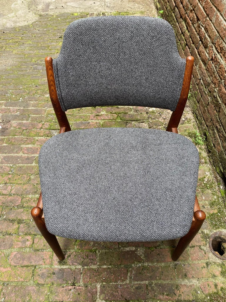 Upholstery Arne Vodder Sibast Møbler Model 62 Oak Side Chair For Sale