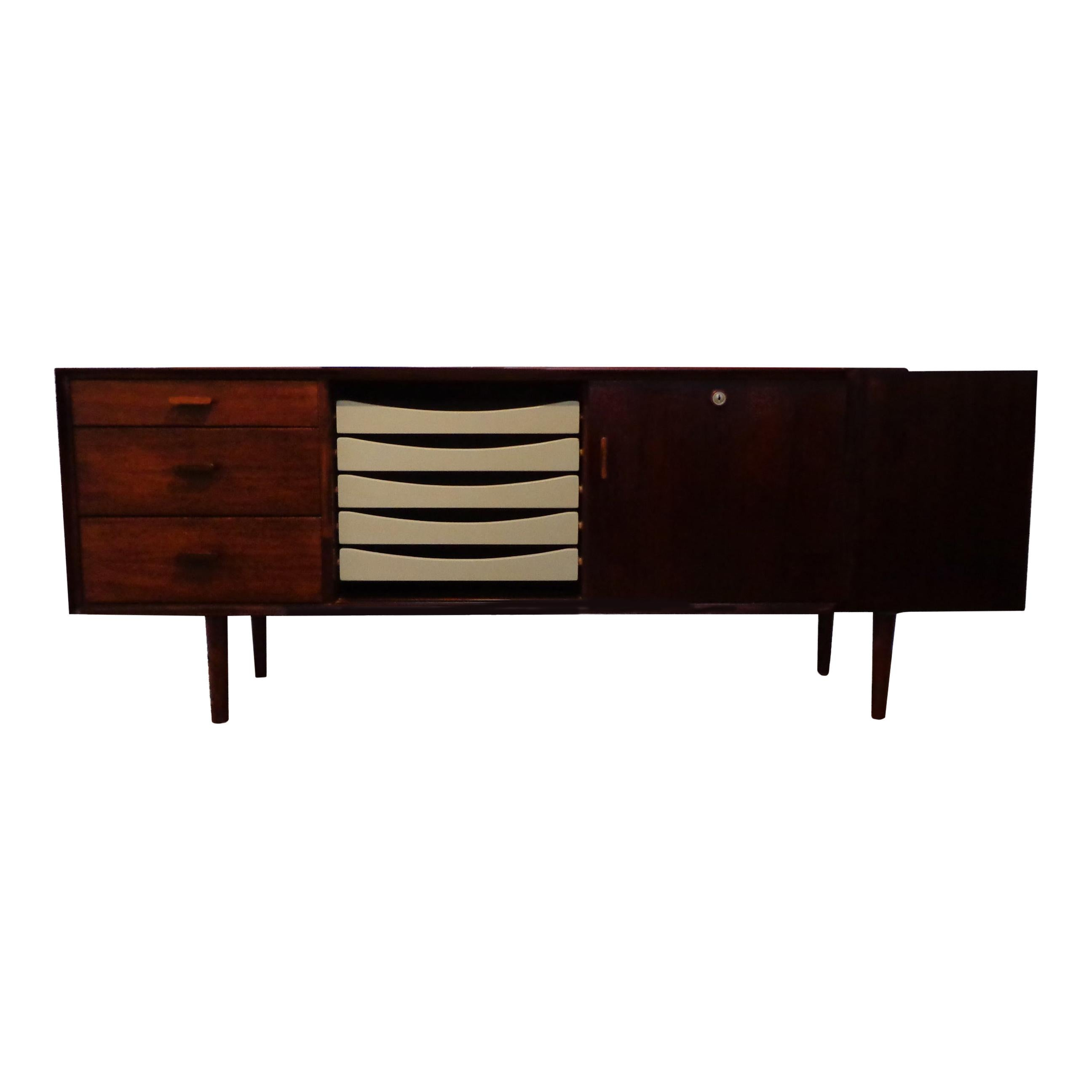 Arne Vodder rosewood sideboard by Sibast Møbler, Danish 1950s