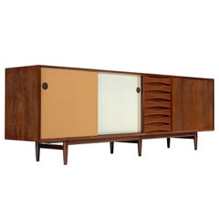 Arne Vodder Sideboard Model 29A in Rosewood with Reversible Doors