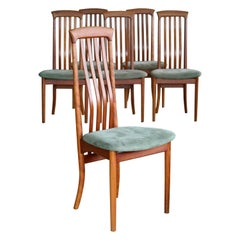 Arne Vodder Style Highback Danish Mid-Century Dining Chairs by Sibast Mobler